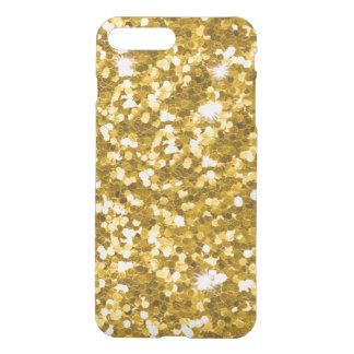Gold Glitter iPhone7 Plus Clear Case