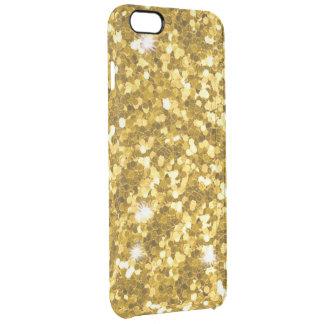 Gold Glitter iPhone 6/6S Plus Clear Case