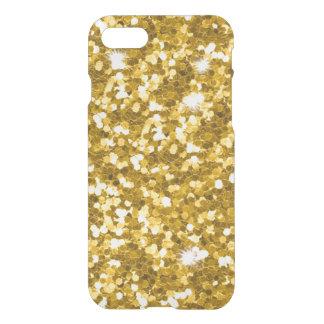 Gold Glitter iPhone 7 Clear Case