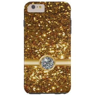 Gold Glitter Jewel Tough iPhone 6 Plus Case