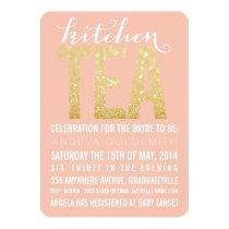 Gold Glitter Kitchen Tea Shower Party Invitation