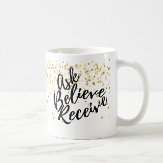 Gold Glitter LAw of Attraction Design Coffee Mug