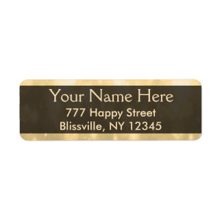 Gold  Glitter Lights Return Address Label