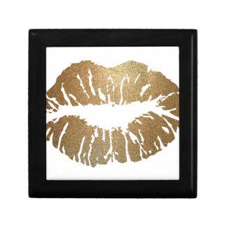 Gold glitter lips, luxury style gift box