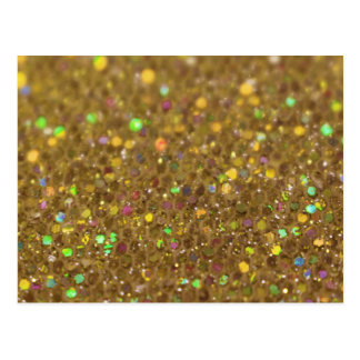 Gold Glitter Look Artwork Postcard