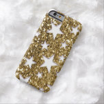 Gold Glitter Look Stars Barely There iPhone 6 Case