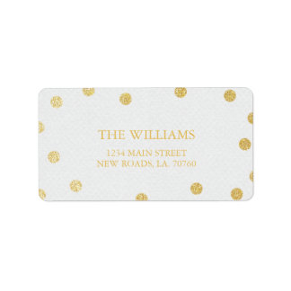 Gold Glitter Mailing Labels
