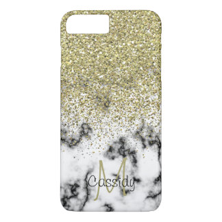 Gold Glitter, Marble, Girly, Trendy, Mobile iPhone 8 Plus/7 Plus Case