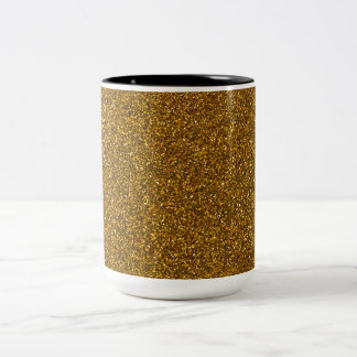 Gold Glitter Two-Tone Mug