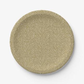 Gold Glitter Paper Plate