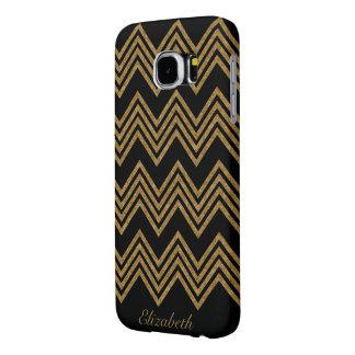 Gold Glitter Personalized Samsung Galaxy S6 Case