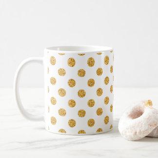 Gold Glitter Polka Dot Holiday Mug
