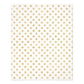 Gold Glitter Polka Dots Pattern 11.5 Cm X 14 Cm Flyer