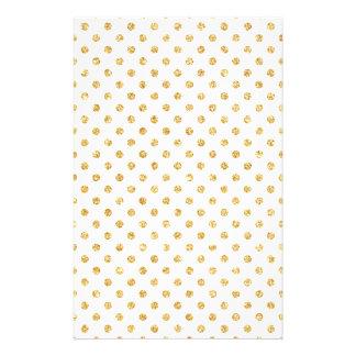 Gold Glitter Polka Dots Pattern 14 Cm X 21.5 Cm Flyer
