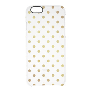 Gold Glitter Polka Dots Pattern Clear Transparent Clear iPhone 6/6S Case