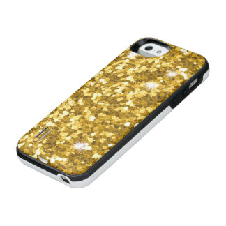 Gold Glitter Power Gallery iPhone SE/5/5S Case