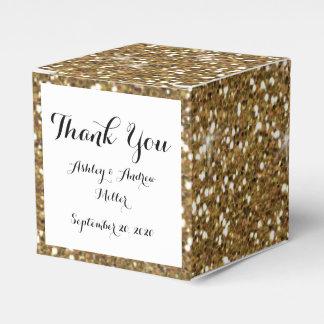 Gold Glitter Printed Favour Box