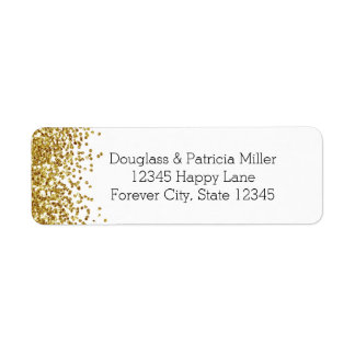 Gold Glitter Return Address Label