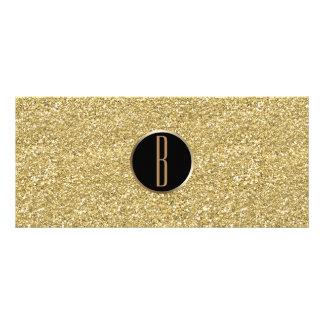 Gold Glitter Shine Glam Monogram Gift Certificate