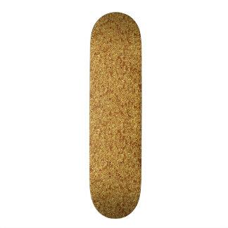 Gold Glitter Skateboard Complete Template