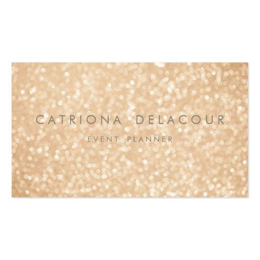 Gold Glitter Sparkle Bokeh Business Card