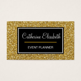 Gold Glitter, Sparkle, Double Sided Business Cards