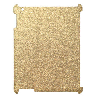 Gold Glitter Sparkle Pattern Background iPad Cases