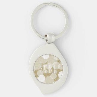 Gold Glitter Sparkle Key Chain