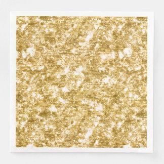 Gold Glitter Sparkle Wedding Reception Party Disposable Serviette