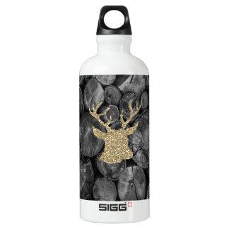 Gold Glitter Stag/Deer Wood Logs SIGG Water Bottle SIGG Traveller 0.6L Water Bottle