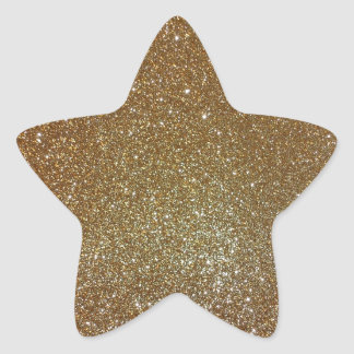 Gold Glitter Star Sticker