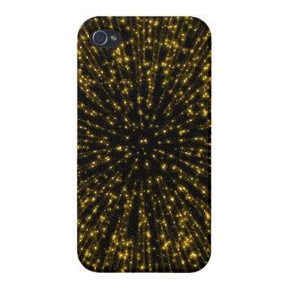 Gold Glitter Starburst Sunburst Firework Sparkle iPhone 4/4S Case