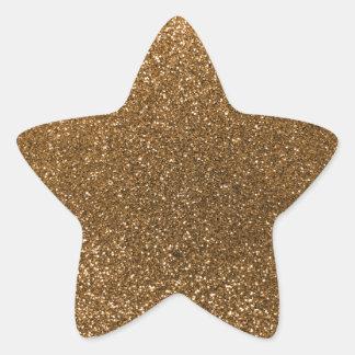 Gold glitter star stickers