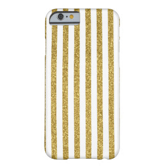 Gold glitter stripes barely there iPhone 6 case