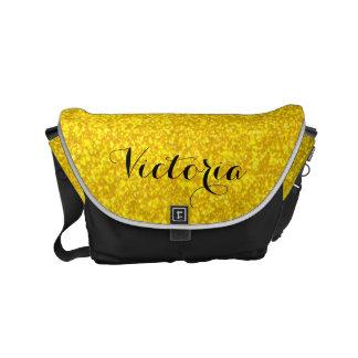 Gold glitter texture commuter bags