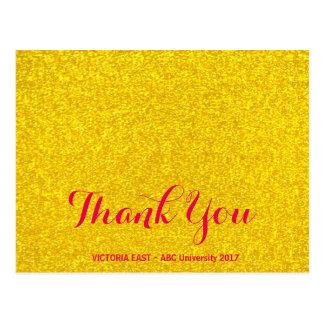 Gold glitter texture postcard