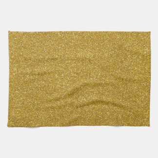 Gold Glitter Texture Tea Towel