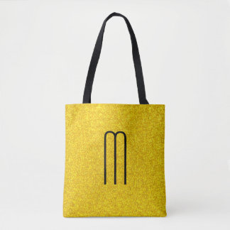 Gold glitter texture tote bag