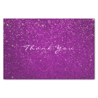Gold Glitter Thank You Fuchsia Pink Spark Tissue Paper