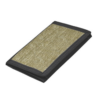 Gold Glitter Trifold Wallet