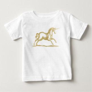 Gold Glitter Unicorn Fantasy Baby T-Shirt
