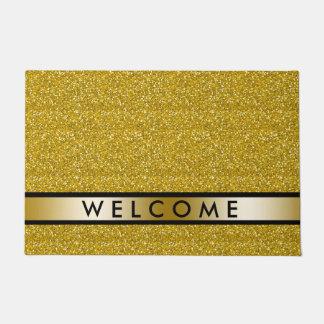 Gold Glitter Welcome Doormat