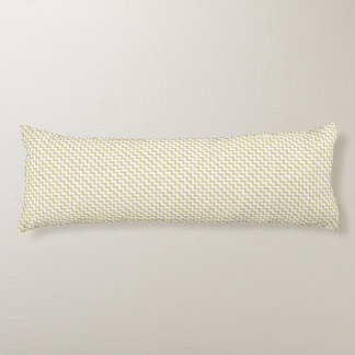 Gold Glitter White Chevron Body Pillow