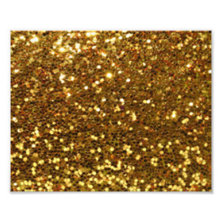 Gold Glittery Diamonds Pattern Print Design