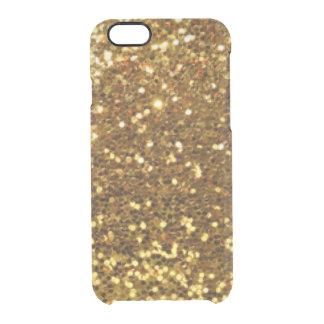 Gold Glittery Diamonds Pattern Print Design Clear iPhone 6/6S Case