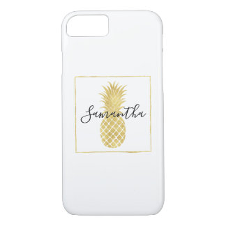 Gold Glitzy Pineapple iPhone 8/7 Case
