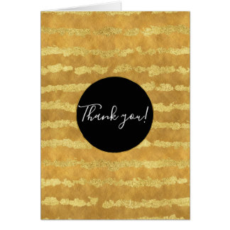 Gold Glitzy Stripes Card