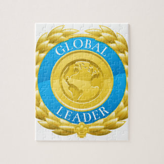 Gold Global Leader Winner Laurel Wreath Medal Jigsaw Puzzle