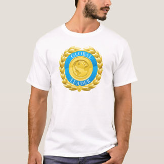 Gold Global Leader Winner Laurel Wreath Medal T-Shirt
