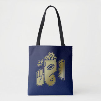Gold Goddess Ganesha - All-Over-Print Tote Bag